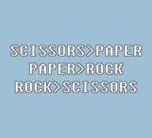 geek paper rock scissors by borstal