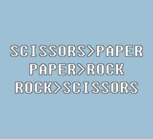 geek paper rock scissors by borstal