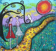 Sister's Secrets- Acrylic by Juli Cady Ryan