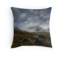 Through the Mist - St Sunday Crag Throw Pillow
