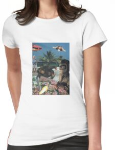 Mauve encounters Womens Fitted T-Shirt