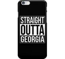 Straight Outta Georgia iPhone Case/Skin
