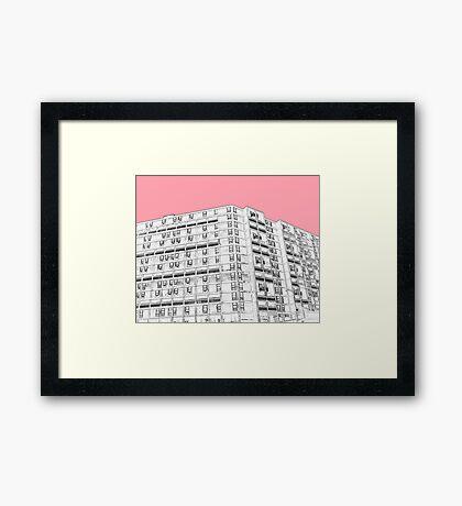 Park Hill Sheffield Pink Framed Print
