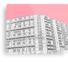 Park Hill Sheffield Pink Metal Print