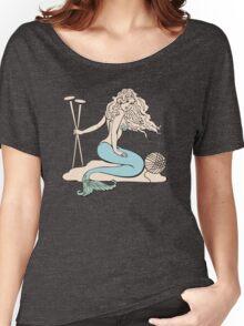 Tattoo mermaid yarn knitting needles Women's Relaxed Fit T-Shirt