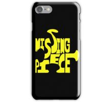 missing piece - yellow iPhone Case/Skin