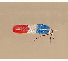 Patriot Feather Photographic Print