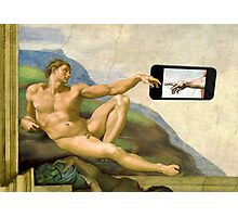 The Creation Of Adam 2.0 Photographic Print