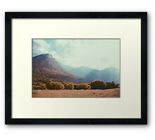 Mountains in the background V Framed Print