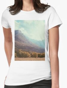 Mountains in the background V Womens Fitted T-Shirt
