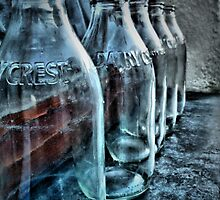 Milk bottles by Roxy J