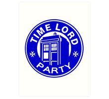 time lord party Art Print