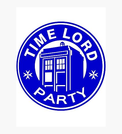 time lord party Photographic Print