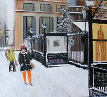 Near Chambers Street, NY City Winter by Jsimone