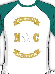 North carolina state flag geek funny nerd T-Shirt