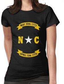 North carolina state flag geek funny nerd Womens Fitted T-Shirt