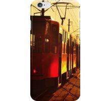 Golden tram of Belgrade iPhone Case/Skin