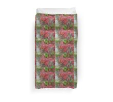 Virginia Creeper on Dune Fence - Fall Colors Duvet Cover