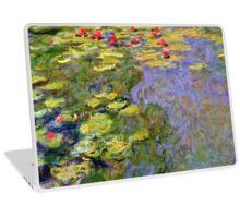 1919, Waterlilies, oil on canvas. Claude Monet. Vintage floral oil painting fine art. Laptop Skin