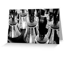 Black and White Handbells Greeting Card