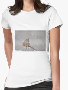 Female northern cardinal Womens Fitted T-Shirt