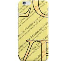 Happy Valentine's Day - Typography, love iPhone Case/Skin