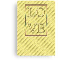 Happy Valentine's Day - Typography, love Canvas Print