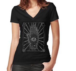 'Hamsa Hand, Hand with Eye' Tri-blend T-Shirt by ARTmuffin