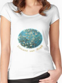 Vincent van Gogh, Blossoming Almond Tree Women's Fitted Scoop T-Shirt