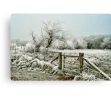 Frosty Gate, Formby Canvas Print