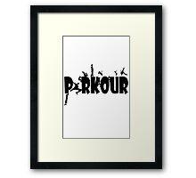 Parkour geek funny nerd Framed Print