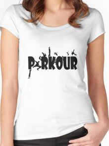 Parkour geek funny nerd Women's Fitted Scoop T-Shirt