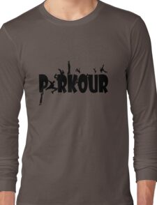 Parkour geek funny nerd Long Sleeve T-Shirt