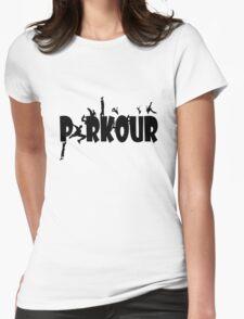 Parkour geek funny nerd Womens Fitted T-Shirt