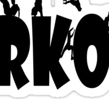 Parkour geek funny nerd Sticker