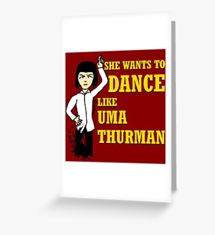 Uma Thurman Greeting Card