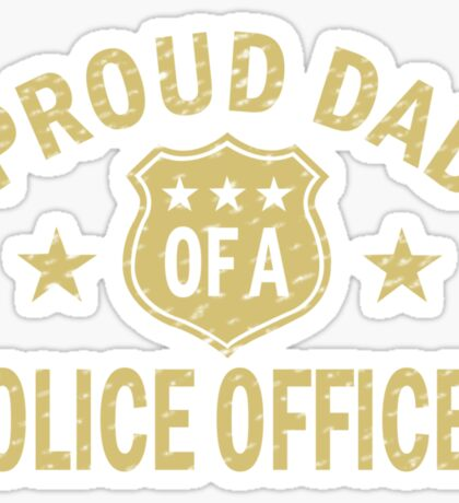 Proud dad of a police officer geek funny nerd Sticker