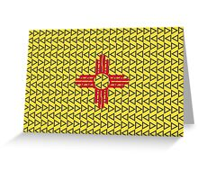 New Mexico Tribal Design Flag Greeting Card