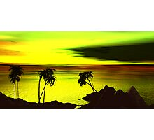Dreaming on a Heartbrteak Cove Sunset - for Tony Photographic Print