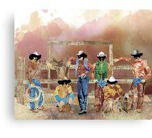 Stormy Cowboys Canvas Print