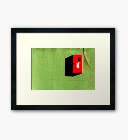 Red :: Green :: Black Shadow Framed Print