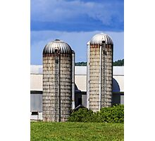 Farm Silos Photographic Print