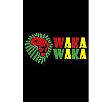 Red lion green mane waka waka geek funny nerd Photographic Print