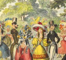 1800's Kensington Gardens scene  Sticker