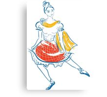 A young scottish dancer in national clothes. Canvas Print