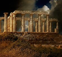 Echo Down The Years - Temple of Poseidon by Lois  Bryan