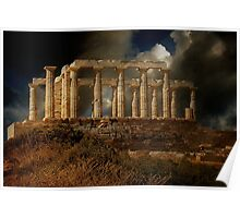 Echo Down The Years - Temple of Poseidon Poster