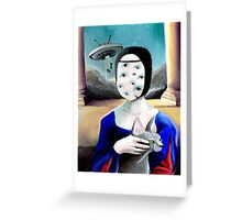Lady with a Sphynx Greeting Card