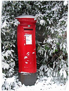 Pillar Box in the Snow by RedHillDigital