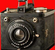 Classic Vintage Kodak Brownie Camera Tee by Edward Fielding